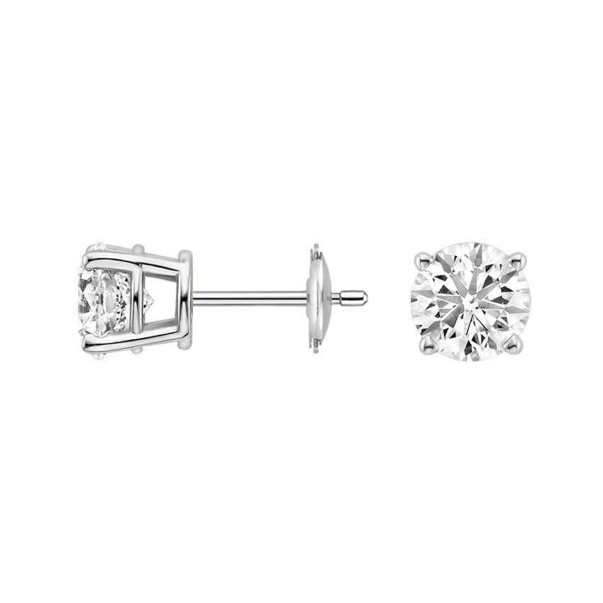 earrings cut jewelry platinum synthetic gold item beauty silver diamonds from white plated carat diamond color piece stud cushion sightly in sterling