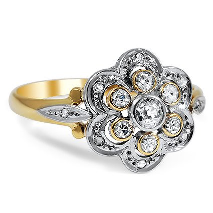 The Gypsy Rose Ring, top view