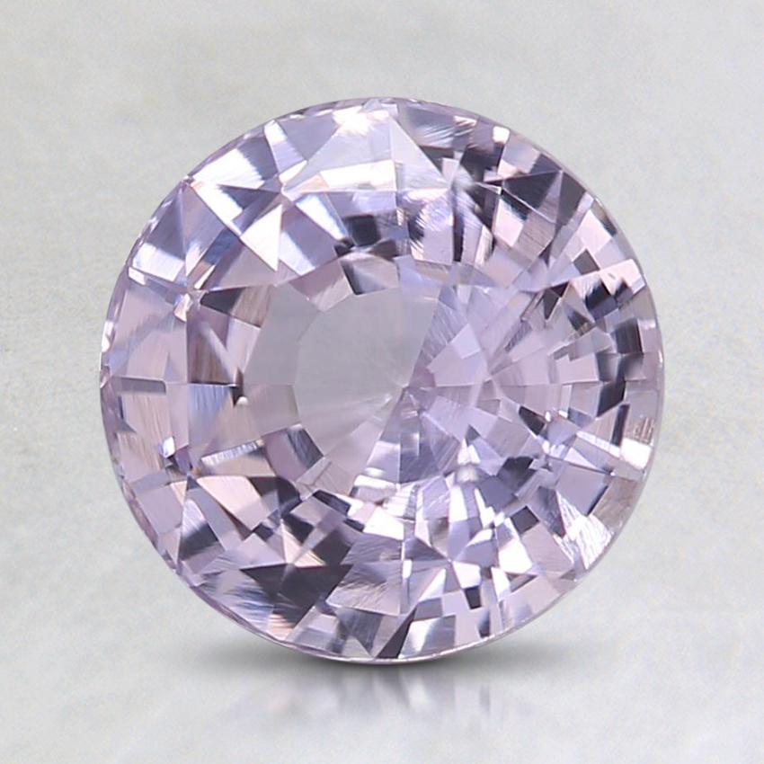 7.4mm Unheated Pink Round Sapphire