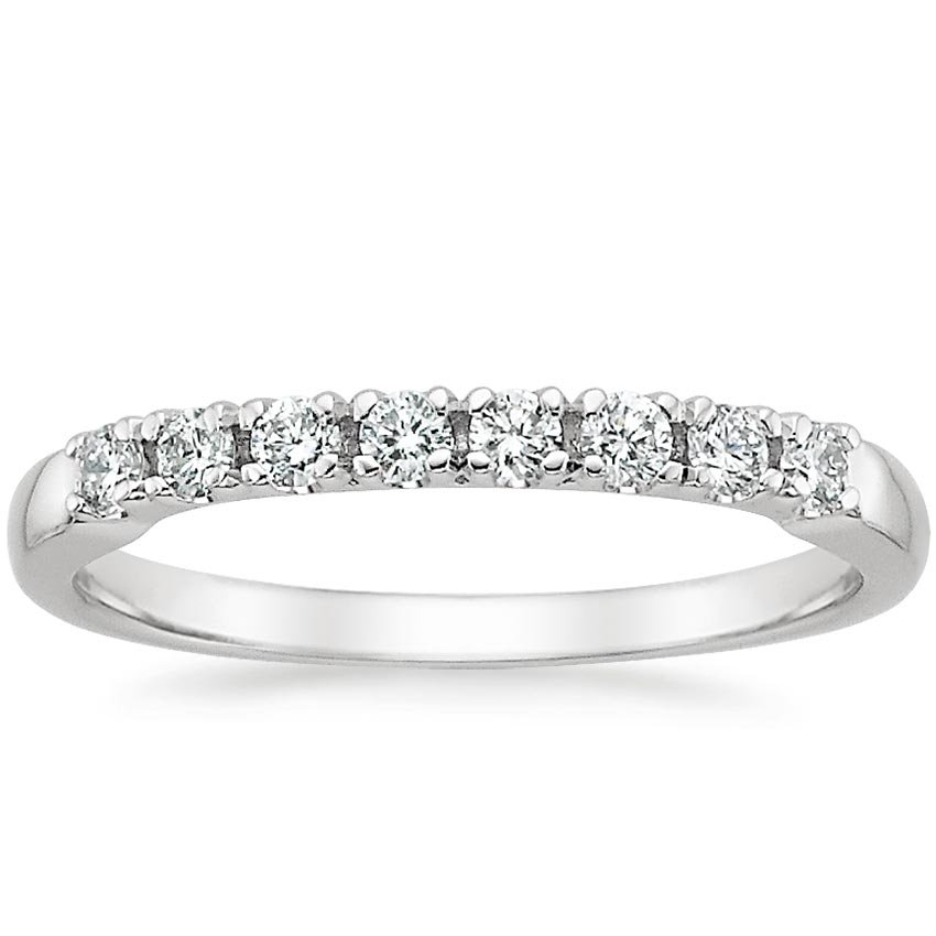 18K White Gold Posie Diamond Ring (1/4 ct. tw.), top view