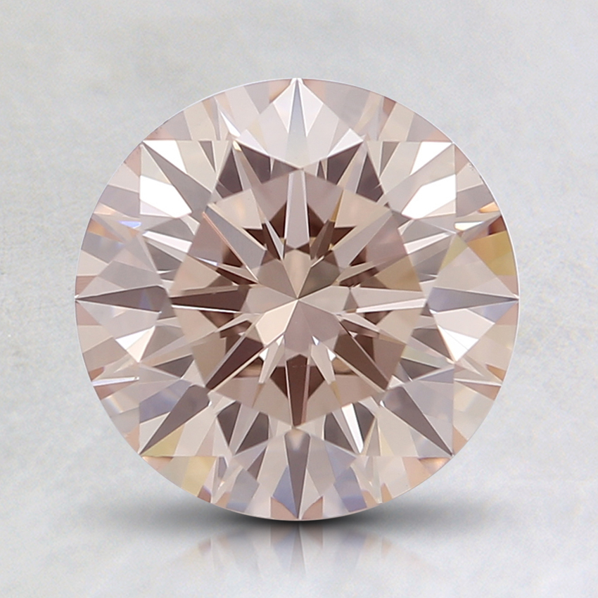 1.62 Ct. Light Pink Round Lab Created Diamond
