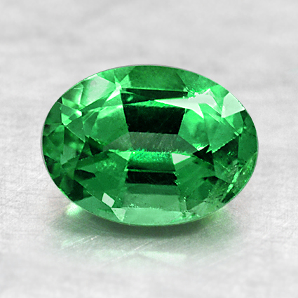 7.8x5.9mm Oval Emerald, top view