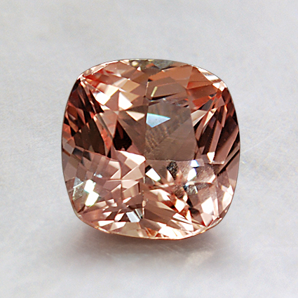 6.6mm Super Premium Peach Cushion Sapphire, top view