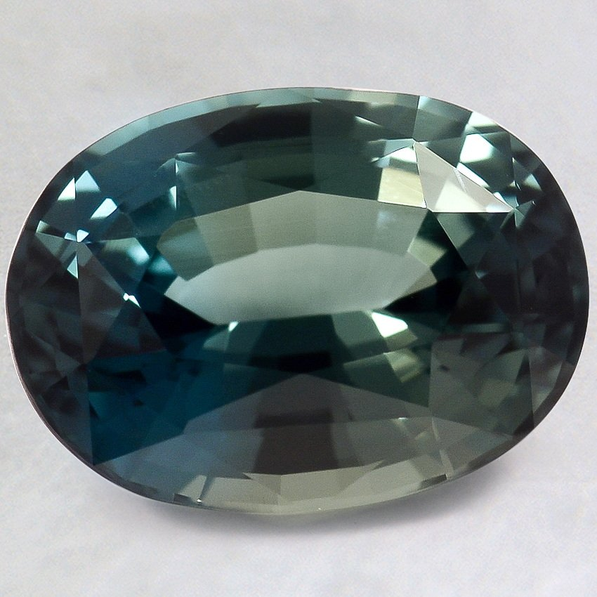 10.5x8mm Premium Teal Oval Sapphire