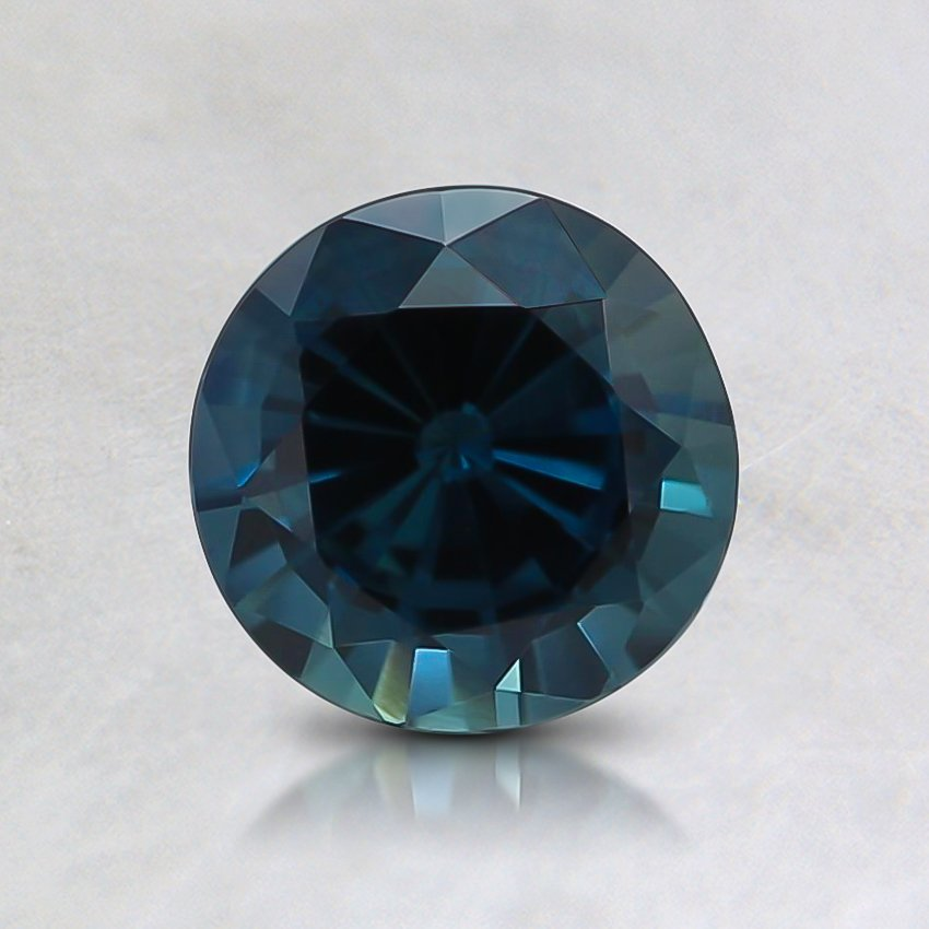 6.1mm  Teal Round Sapphire