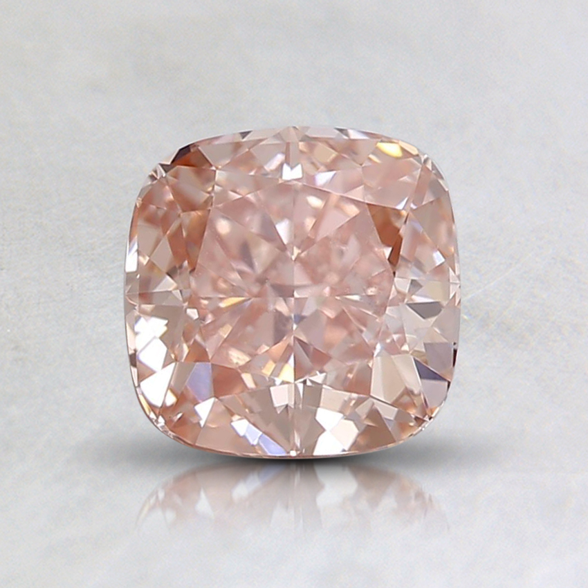 1.08 Ct. Fancy Brownish Orangy Pink Cushion Lab Created Diamond