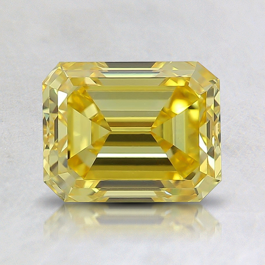 1.45 Ct. Fancy Vivid Yellow Emerald Lab Created Diamond
