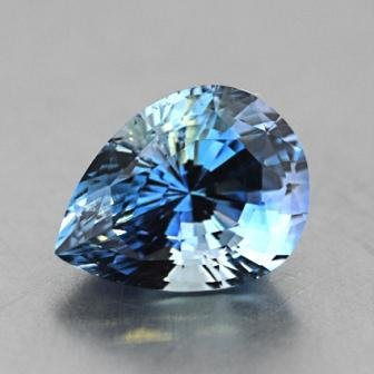 8.5x5.6mm Light Blue Pear Shaped Sapphire, top view
