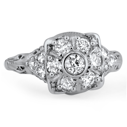 The Marilyn Ring, top view