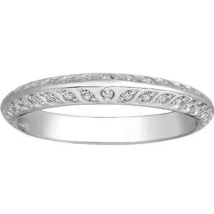 18K White Gold Luxe Garland Diamond Ring, top view