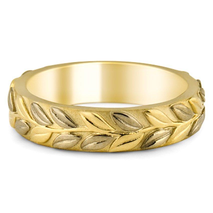 Eternity Leaf Band, top view