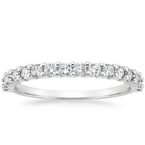 Platinum Shared Prong Diamond Ring (1/2 ct. tw.), top view