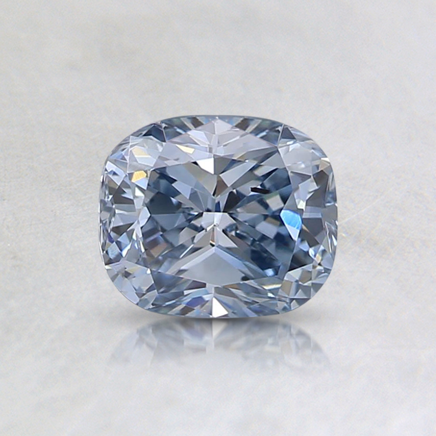0.70 Ct. Fancy Blue Cushion Lab Created Diamond