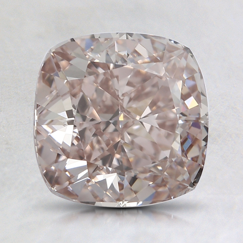 1.90 Ct. Fancy Light Pinkish Brown Cushion Lab Created Diamond