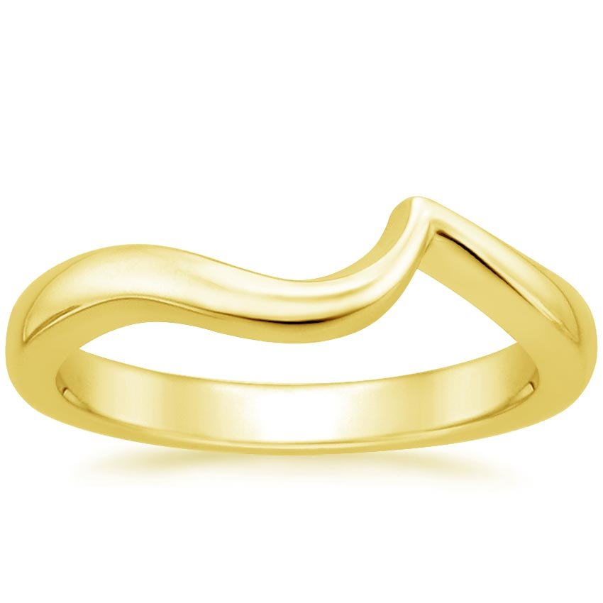 18K Yellow Gold Seacrest Wedding Ring, top view
