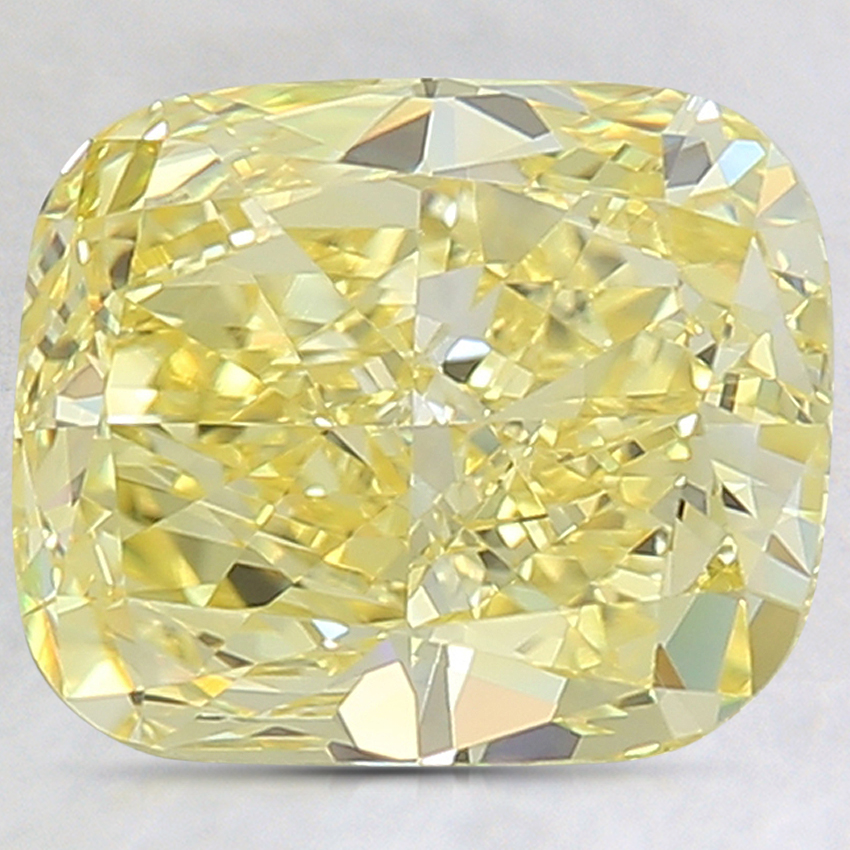 3.30 Ct. Fancy Intense Yellow Cushion Lab Created Diamond