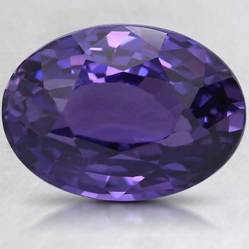 10.3x7.5mm Unheated Purple Oval Sapphire