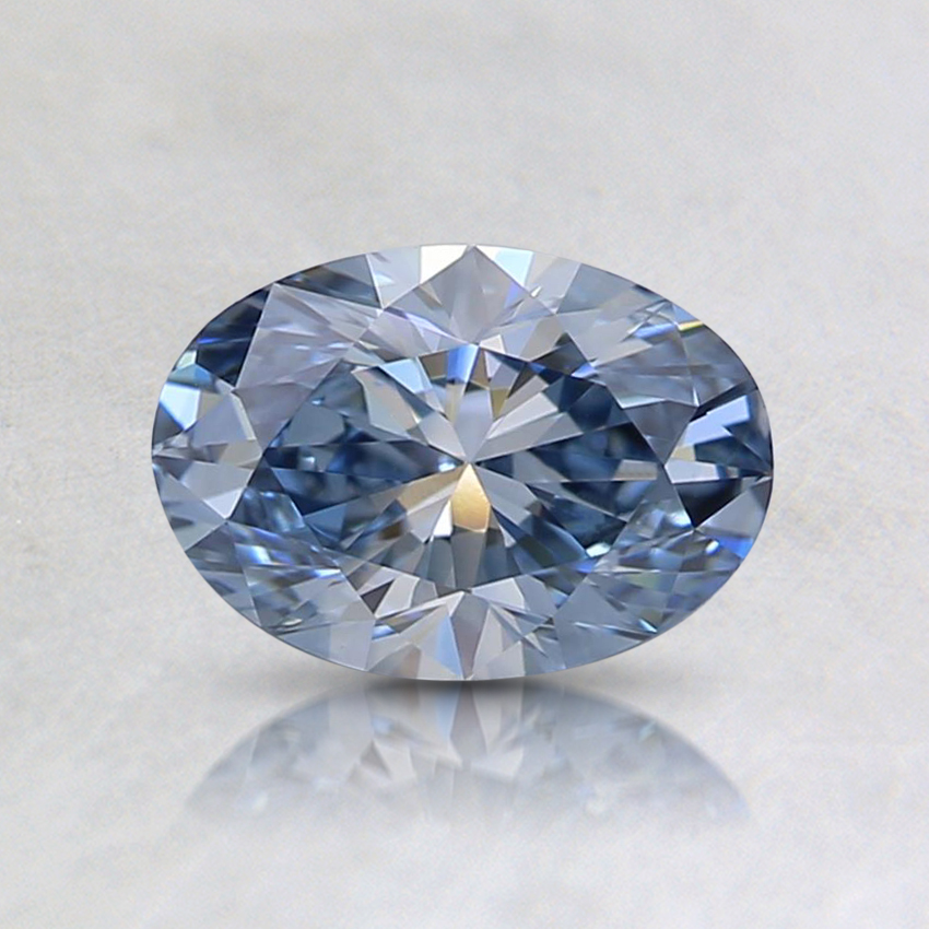 0.64 Ct. Fancy Light Blue Oval Lab Created Diamond