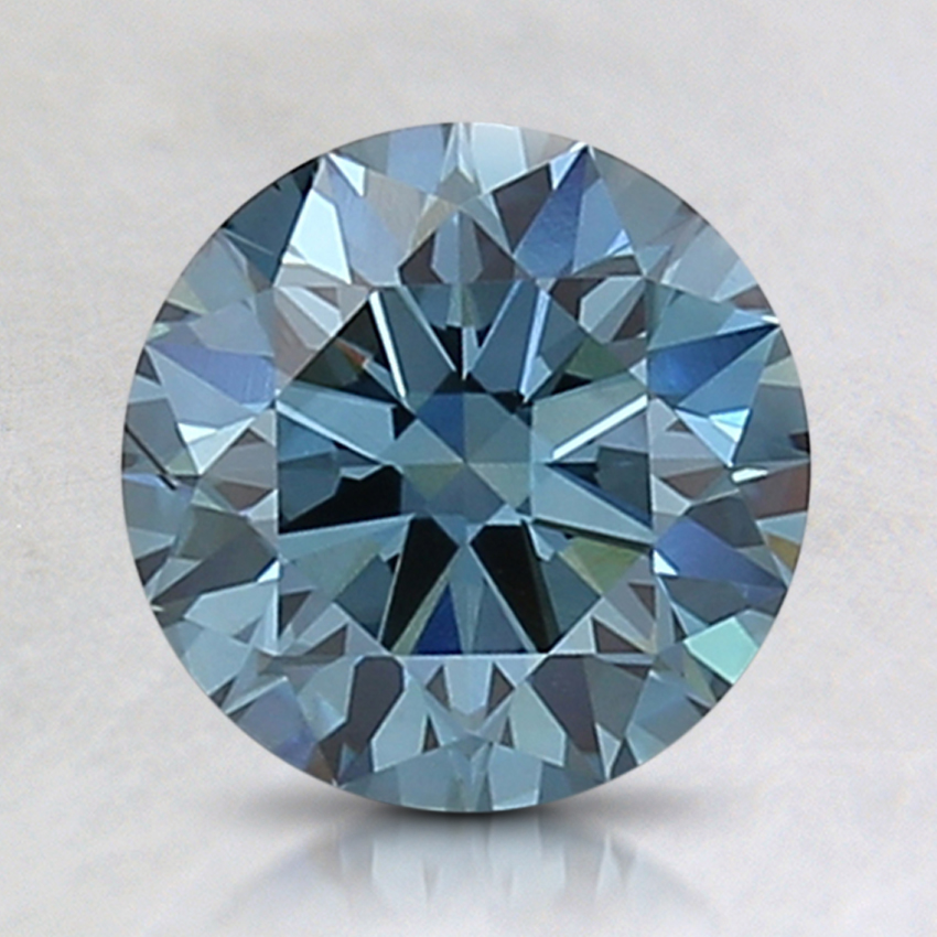 1.59 Ct. Fancy Intense Blue Round Lab Created Diamond