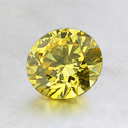 6.30mm Lab Created Yellow Round Diamond