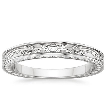 Platinum Jardinière Wedding Ring, top view