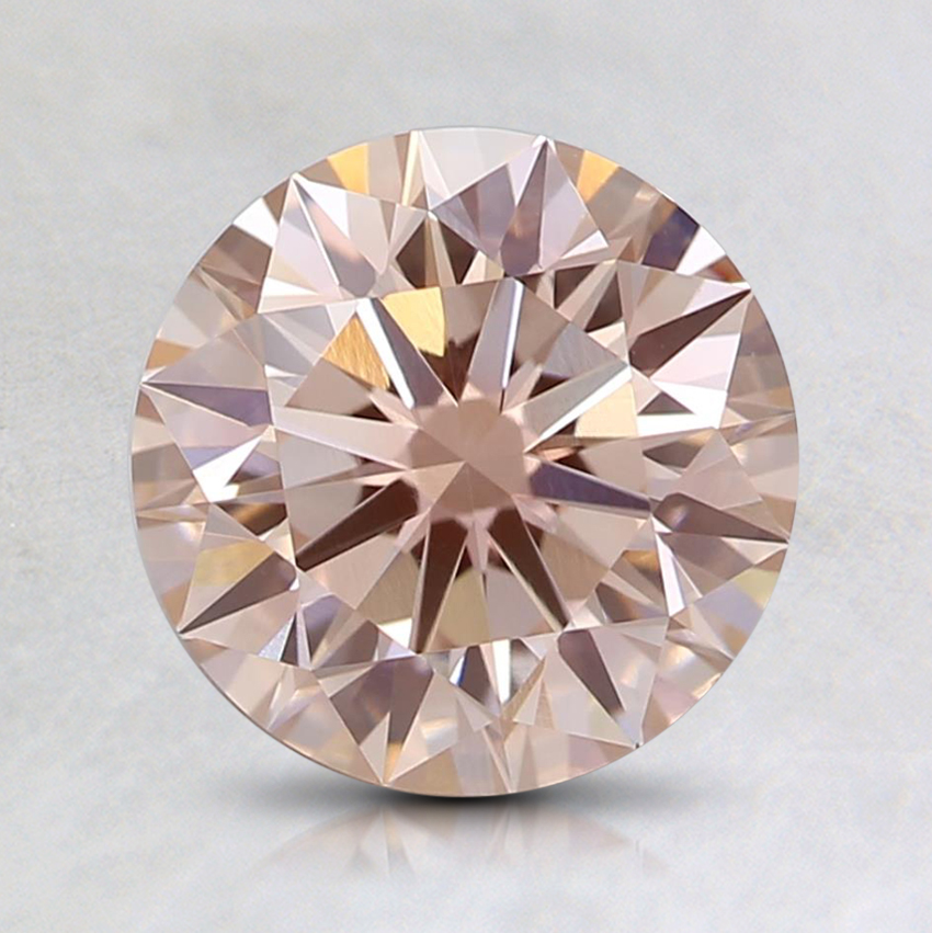 1.50 Ct. Fancy Pinkish Orange Round Lab Created Diamond