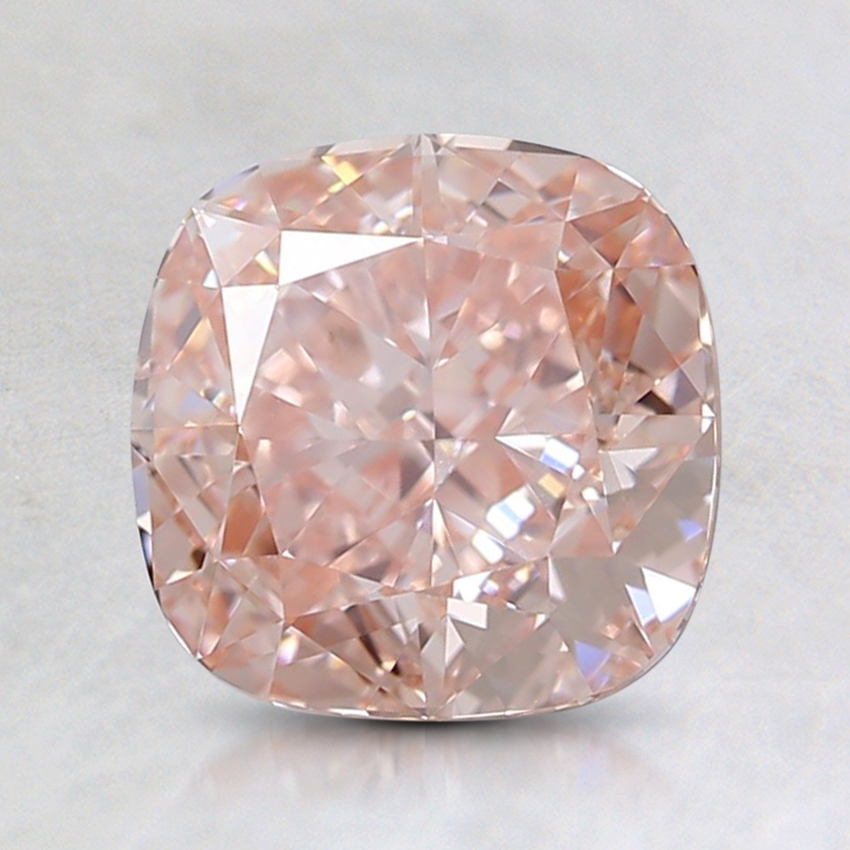 1.54 Ct. Fancy Orangy Pink Cushion Lab Created Diamond