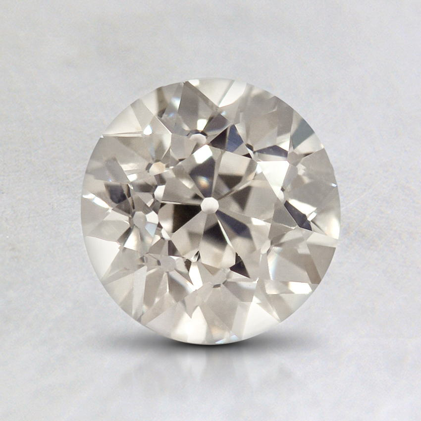 1.10 Carat, J Color, VVS2 Clarity, Round Old European Cut Diamond, top view