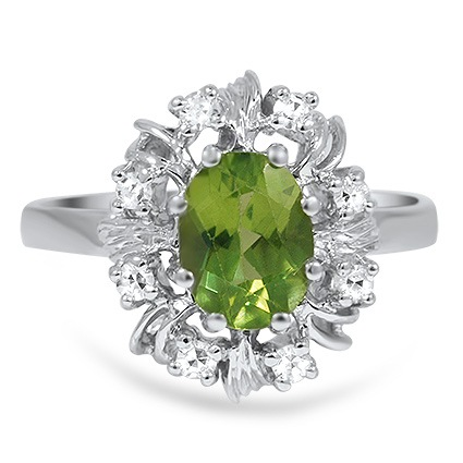 Retro Peridot Cocktail Ring