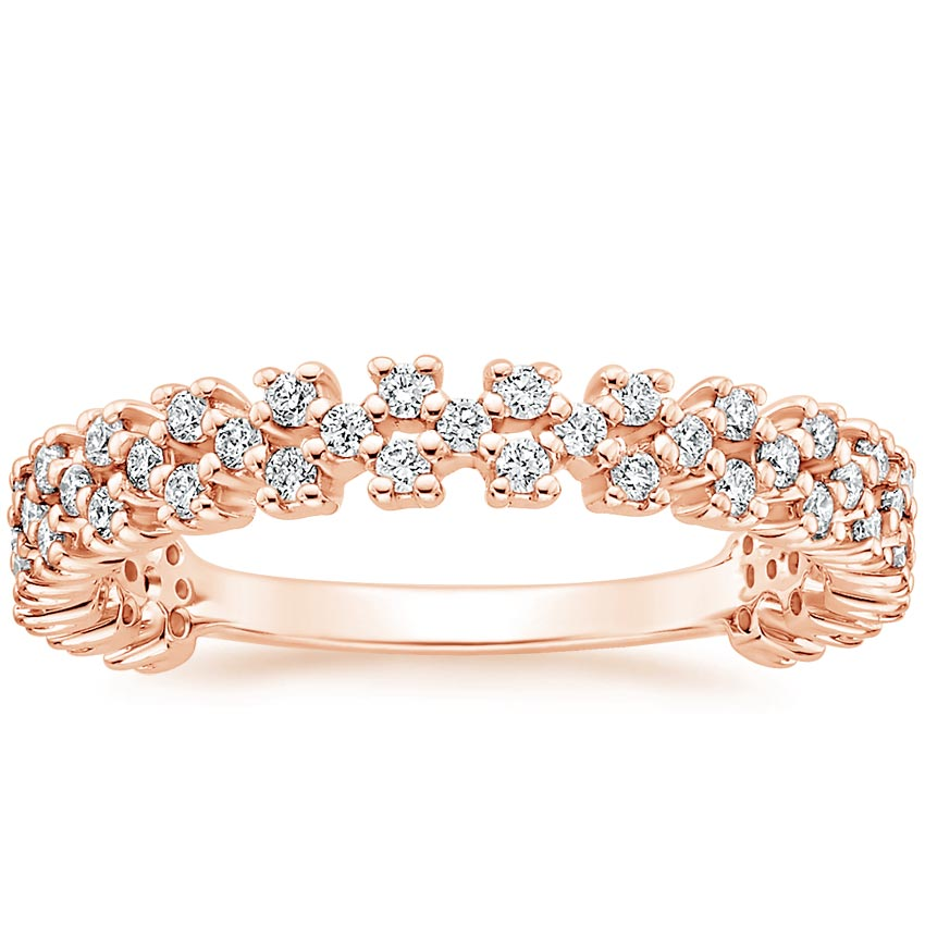Rose Gold Effervescence Diamond Ring