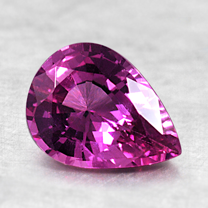 8x6mm Pink Pear Sapphire, top view