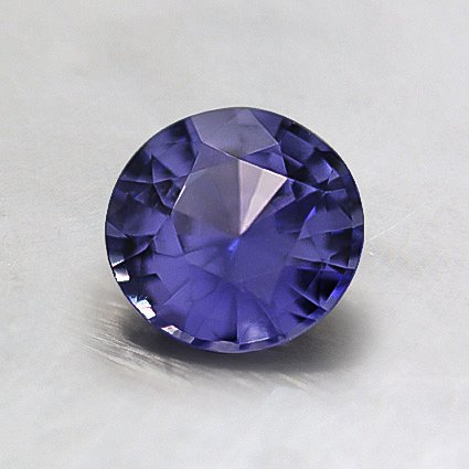 6mm Light Purple Round Sapphire, top view