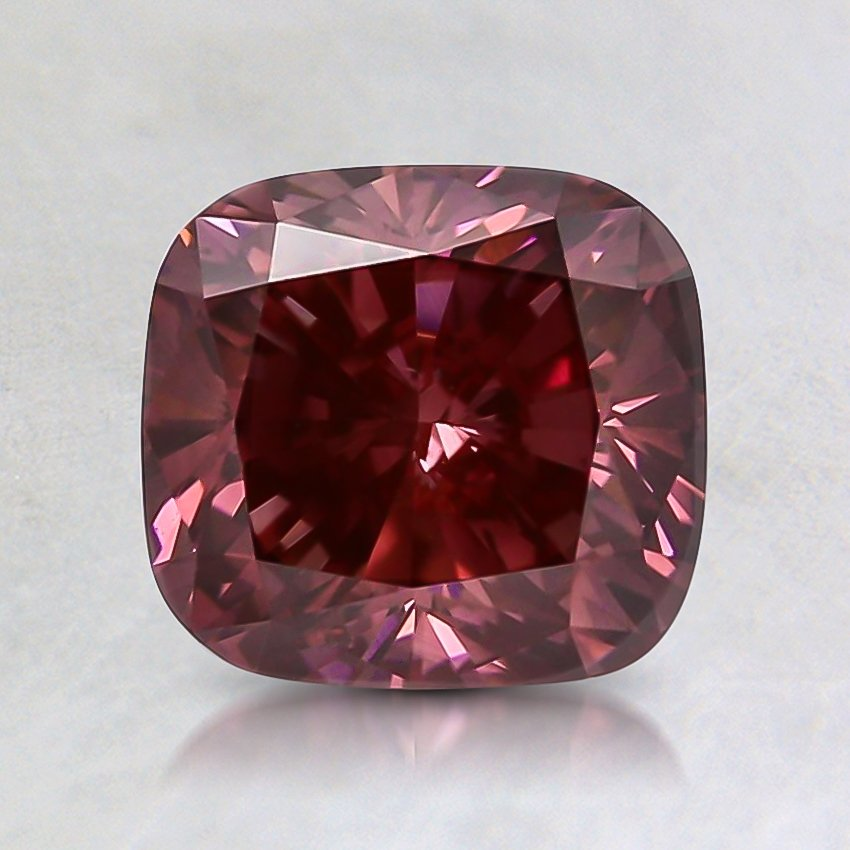 1.68 Ct. Fancy Deep Pink Cushion Lab Created Diamond