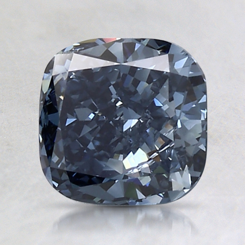 1.66 Ct. Fancy Deep Blue Cushion Lab Created Diamond