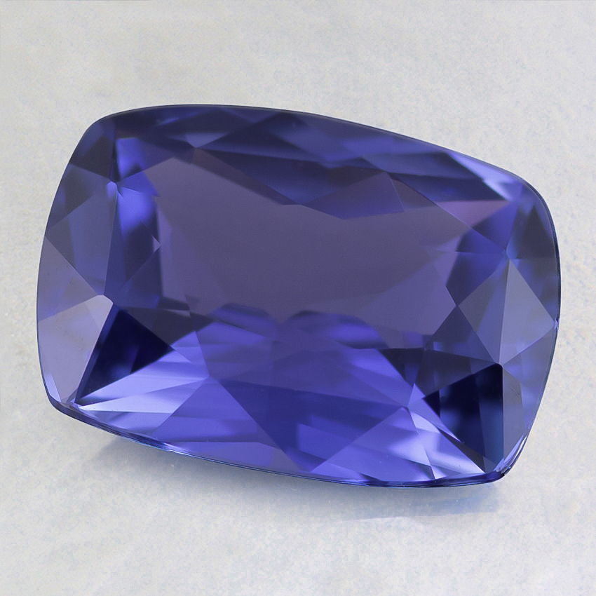 9x7mm Premium Blue Cushion Sapphire, top view
