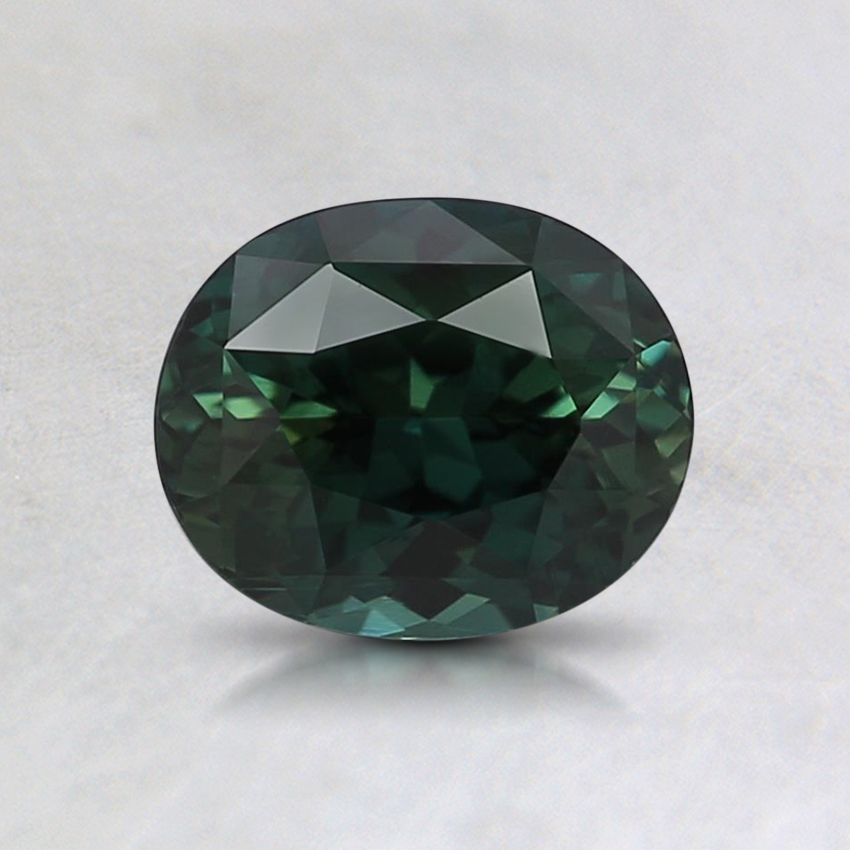 6.5x5.3mm Unheated Teal Oval Sapphire