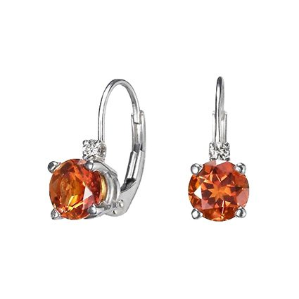Silver Fire Citrine™ and Diamond Earrings, top view