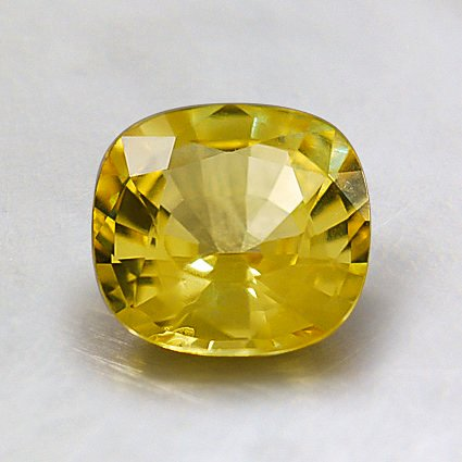 6.5mm Vivid Yellow Cushion Sapphire