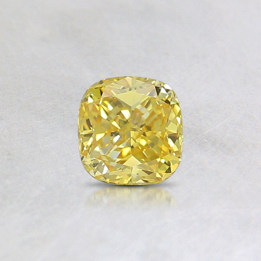 0.35 Ct. Fancy Intense Yellow Cushion Lab Created Diamond