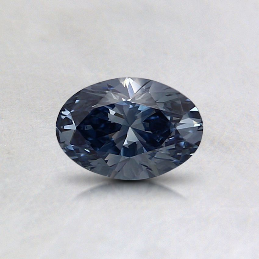 0.38 Ct. Fancy Deep Blue Oval Lab Created Diamond