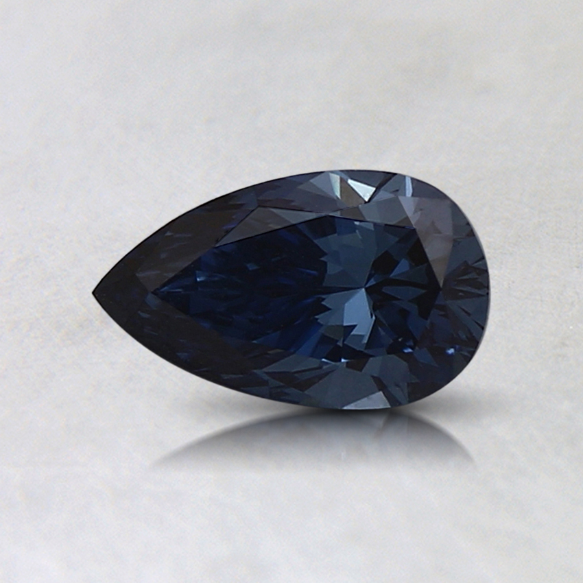 0.48 Ct. Fancy Deep Blue Pear Lab Created Diamond