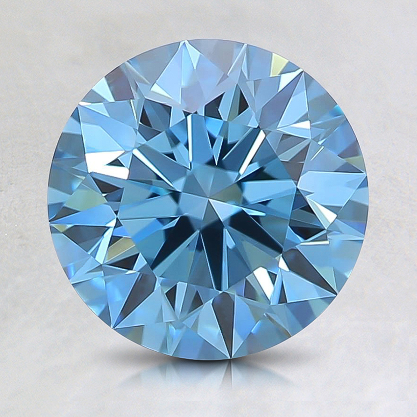 1.52 Ct. Fancy Intense Green Blue Round Lab Created Diamond