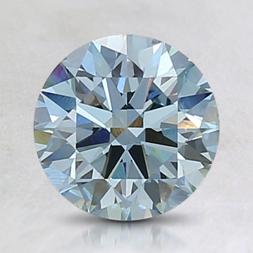 1.57 Ct. Fancy Greenish Blue Round Lab Created Diamond