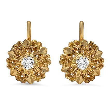 The Marisa Earrings, top view