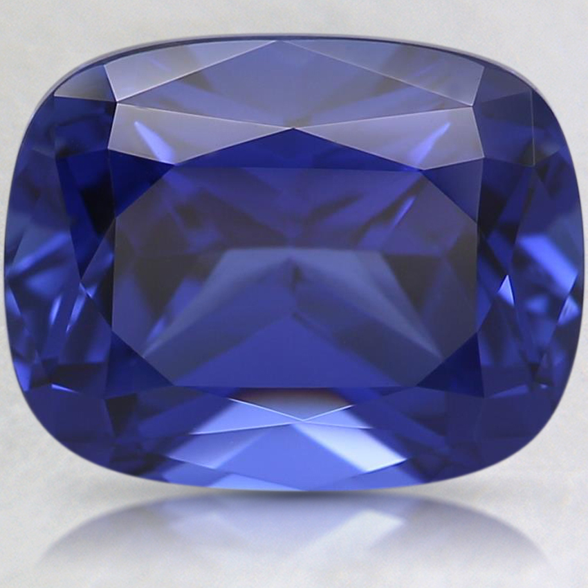 10x8mm Blue Cushion Lab Created Sapphire
