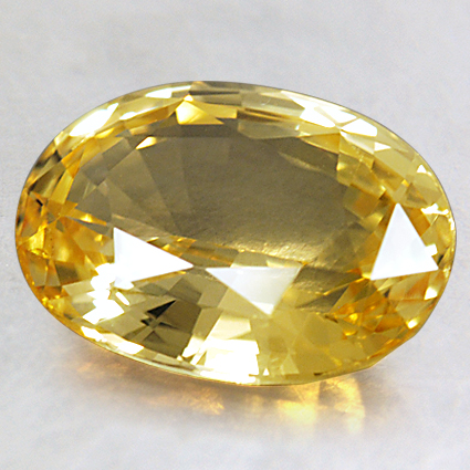 10.4x7.6mm Unheated Yellow Oval Sapphire