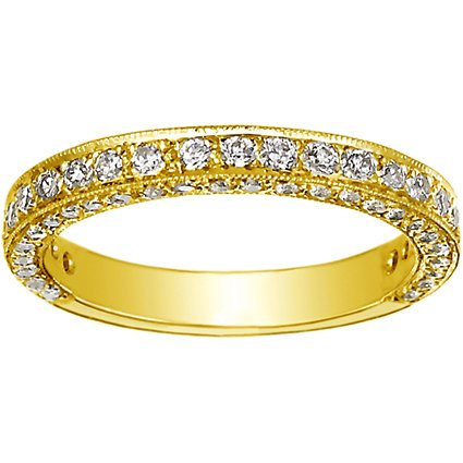 18K Yellow Gold Luxe Pavé Diamond Ring (3/4 ct. tw.), top view
