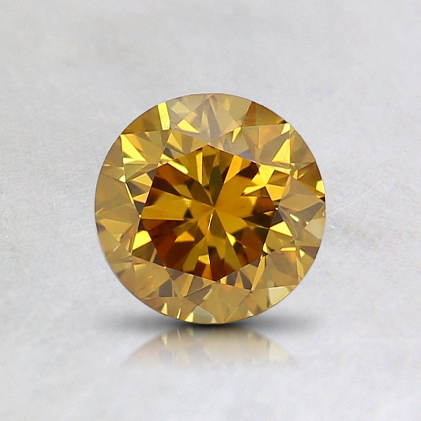 0.61 Ct. Fancy Deep Orangy Yellow Round Diamond