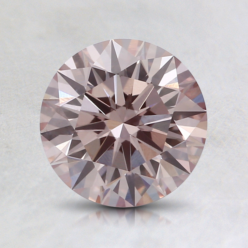 1.19 Ct. Fancy Light Pink Round Lab Created Diamond