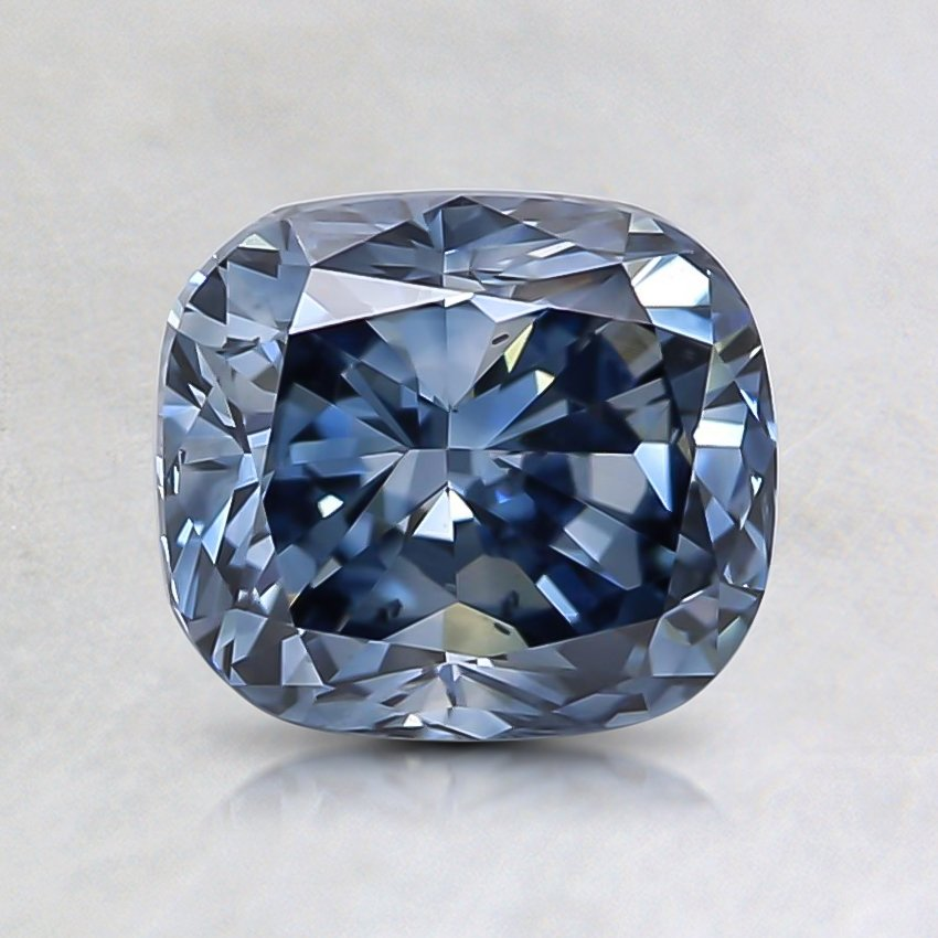 1.39 Ct. Fancy Intense Blue Cushion Lab Created Diamond